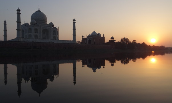 Taj Mahal_sunset