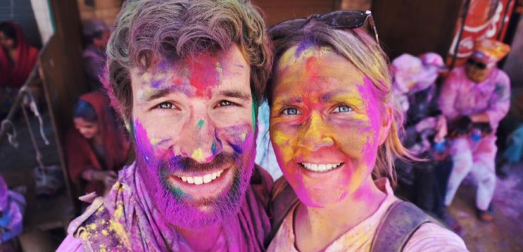 Holi vieren in India